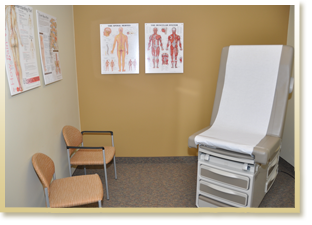 Exam Room at Pain Management Center of Lansing